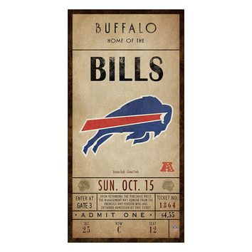 Buffalo Bills Classic Ticket Canvas Wall Art