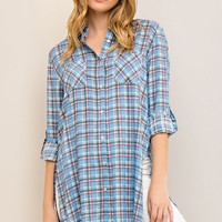 Checkered Plaid Tunic