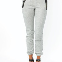 Zip-It-Good-Track-Pants CHARCOAL HGREY - GoJane.com