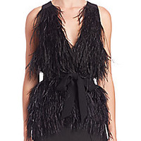 Elizabeth and James - Xiomara Ostrich Feather Vest - Saks Fifth Avenue Mobile