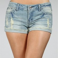 Light Distressed Denim Shorts :: www.windsorstore.com