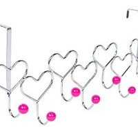 BirdRock Home Over the Door Rack, Heart Style