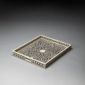 Butler Vivienne Brown Bone Inlay Serving Tray
