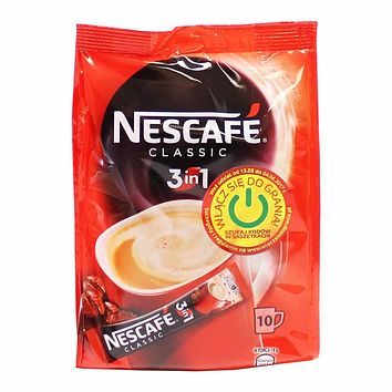 Nescafe 3 in 1 Classic Instant Coffee 10 - 18g Packets