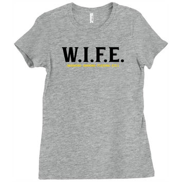 Wife.. Washing Ironing Fucking Etc Ladies Fitted T-Shirt