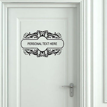 Wall Mural Vinyl Decal Sticker Sign Door Frame Personalized Text Name AL279