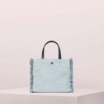 sam denim medium satchel