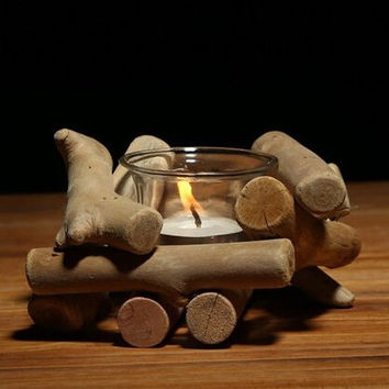 Wood Candle Holder Set Home Gift 21