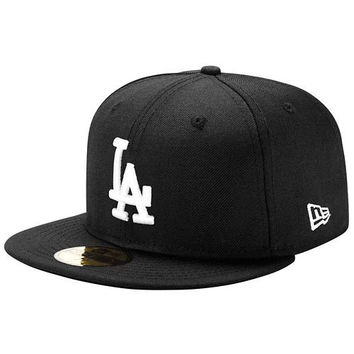 "Dodgers ""Classic Black"" Fitted Hat"