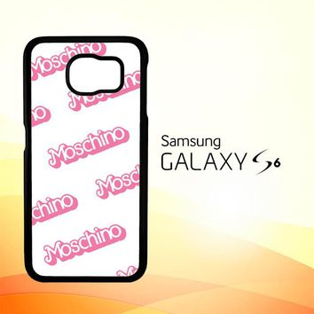 moschino pattern Z5297 Samsung Galaxy S6 Case