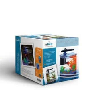 AQUATICS - TANKS - DOUBLE BOWL GLASS AQ KIT 2.5G -  - ELIVE, LLC - UPC: 81997010425 - DEPT: AQUATIC PRODUCTS