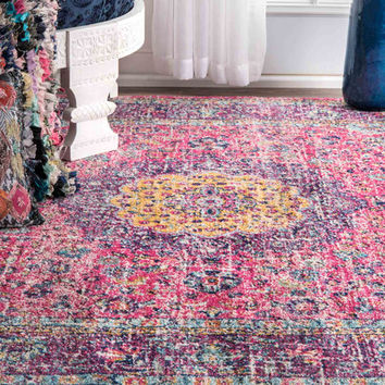 Bungalow Rose Varun Pink/Purple Area Rug & Reviews | Wayfair