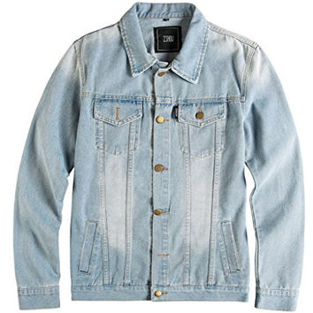 ZSHOW Men's Casual Denim Jacket Bomber Jacket
