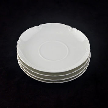 Haviland Limoges Ranson Saucers, 4pc Set, Schleiger 1