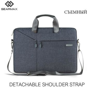 Fashion Gray Laptop Bag For Macbook Air 13 15 Men Women 11 12 13 14 15 15.6 Laptop Bag Handbag Messenger For Macbook Pro 13 15
