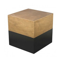 Draper Cube Wood Side Table