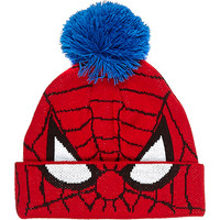 River Island Boys red spiderman beanie hat