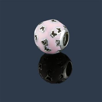 Lovely Pink Beads Fit Original Pandora Bracelet Charms