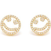 Rosa De La Cruz 'smile' Diamond Stud Earrings - Browns - Farfetch.com
