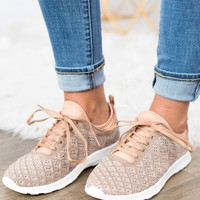 Not Rated- Dessa Sneaker Rose Gold
