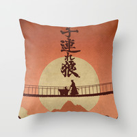 Kozure Okami Throw Pillow by WITHSTAND