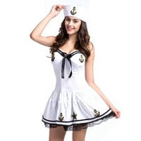 Sexy Navy sailor halloween costumes fancy dress fantasias adulto oktoberfest costume party dresses sissy dress medieval dresses Alternative Measures - Brides & Bridesmaids - Wedding, Bridal, Prom, Formal Gown