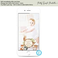 Woodland Baby Shower Snapchat Filter, Woodland Geofilter, Templett, Woodland Template, Woodland Theme, Woodland Animals, Download WD02