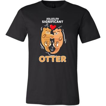 Sea Otter,Romantic,Love Significant Otters Couples T-shirt