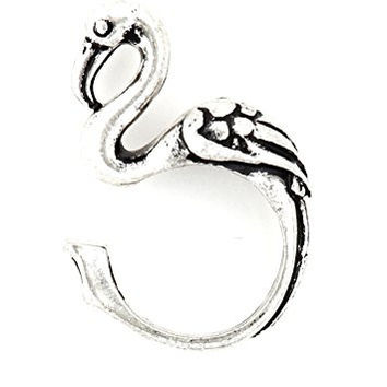 Flamingo Wrap Ring Silver Tone Tropical Florida Bird RL60 Animal Fashion Jewelry