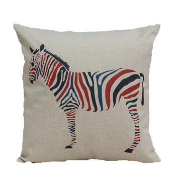 Zebra Print Decorative Throw Pillow Case 18 x 18