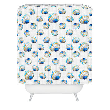 Madart Inc. Sea of Whimsy Sea Scallop Pattern Shower Curtain