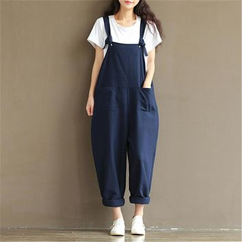 2017 new maternity pants suspenders trousers rompers jumpsuits cotton linen trousers pregnant overalls maternity clothing16407