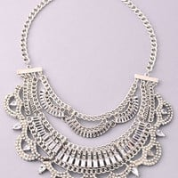 Gypsy Rose Necklace - Silver