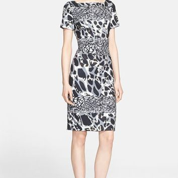 Women's ESCADA Marble Print Jersey Dress,