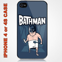 The Batman Funny Wide Custom iPhone 4 or 4S Case Cover