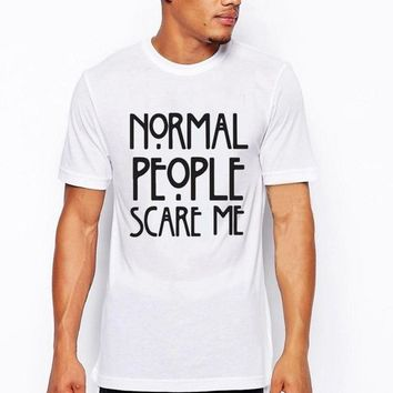 Summer New Fashion Normal people scare me Style Printed t-shirt size ml
