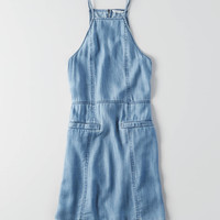 AEO Apron Neck Chambray Shift Dress , Indigo