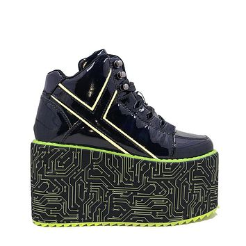 YRU QOZMO HI CYBER DOG Platform Rave Shoes
