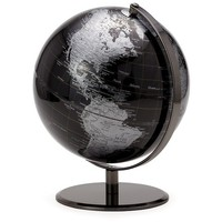 Torre & Tagus Decorative Metal Globe Figurine - Black