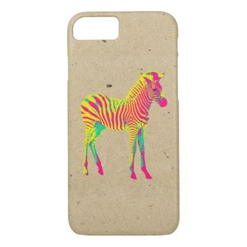 Neon Zebra Baby Animal Psychedelic Funky Retro iPhone 7 Case