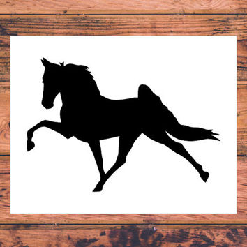 Horse Decal   Walking Horse Decal   Tennessee walking Horse Decal   Barrel Racing Horse Decal   Riding Horse Decal    279
