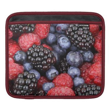 Raspberries, Blackberries & Blue Berries iPad Sleeve