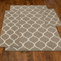 Walmart: Mainstays Sheridan 3-Piece Area Rug Set, Cafe