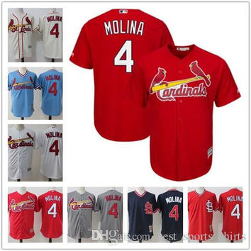 St. Louis Cardinals Yadier Molina Baseball Jerseys Mitchell & Ness Cooperstown Batting Practice Cool Base Player Jersey