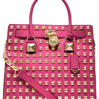MICHAEL Michael Kors Handbag, Hamilton Stud Large North South Tote - MICHAEL Michael Kors - Handbags & Accessories - Macy's