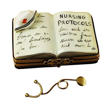 Nursing Book Nurse Limoges Boxes