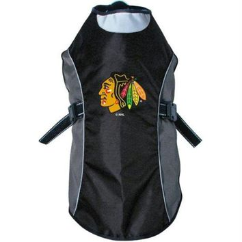 DCCKT9W Chicago Blackhawks Water Resistant Reflective Pet Jacket
