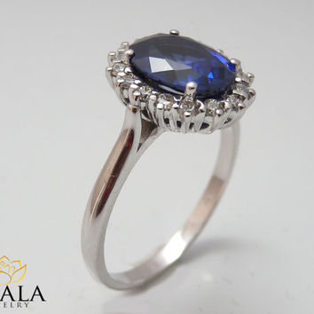 diana ring 14k white gold blue sapphire from ayaladiamonds on