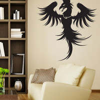 Vinyl Wall Decal Sticker Phoenix Bird #1313