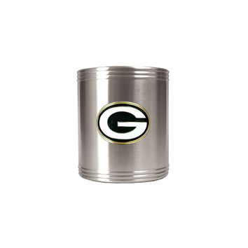 Green Bay Packers Insulated Stainless Steel Holder - Engravable Gift Item